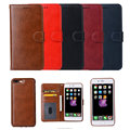 2 in 1 Luxury PU leather wallet case for iPhone X 6 6s 6P 7P 8 Plus