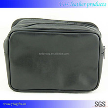 Hot selling leather cosmetic bag cosmetic pouch