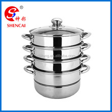 Hot Sale 24cm Capsule Bottom Stainless Steel 3 Layers Steamer Pot