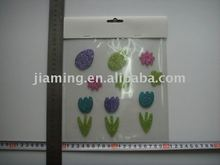 glitter spring flower decorative gel stickers ornament/home deco