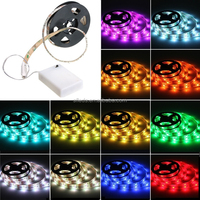 Waterproof 5050 RGB Multicolor Battery Powered Led Flexible Light Strip 50-200cm