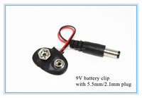 2.1 X 5.5mm Male Dc Plug to 9V Battery Clip Snap jack connector Accessories For Ar-duino