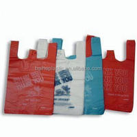 HDPE LDPE PE thank you bags personalized environmentally