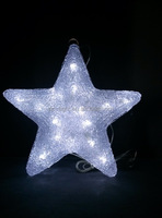 3D acrylic star motif LED christmas light