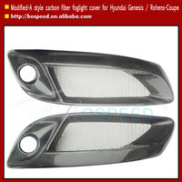 Carbon Fiber Foglight Cover Lamp For Hyundai Genesis Rohens Coupe