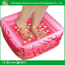 Comfortable relaxing inflatable foot bath swimming pool