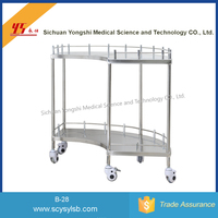 Online shopping Wholesale Movable Stainless Steel medical surgery instrument trolley