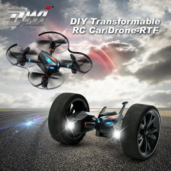 DWI Dowellin RC Drone Kits DIY Land & Sky 2 In1 Airphibian Flying Car
