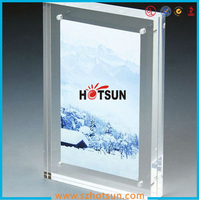 High clear magnetic photo frame a4 size with double sides
