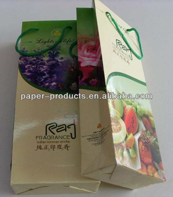 Alibaba Varnishing Fancy Paper Bag Fruits Packaging Paper Bag Wholesale