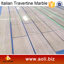 Italian Rome Beige Marble Tiles Price Travertine Marble Tile Floor