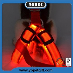 2016 hot sale flashing dog harness High-Light LED dog harness