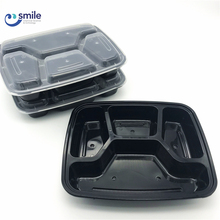 Air vent microwave safe pp disposable food box/4-compartment container
