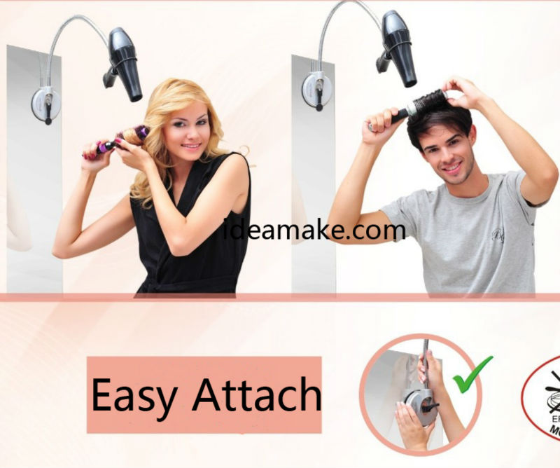 Hair Drier Accessory Hair Drier Holder Hands Free Hair Dryer Holder and organizer