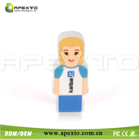 4GB women shape pvc usb flash drive free shipping cost