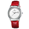 New Vogue Casual Type Date Day Feature and Shining Diamonds Watches Ladies Fashion Watch Leather Belt Watch