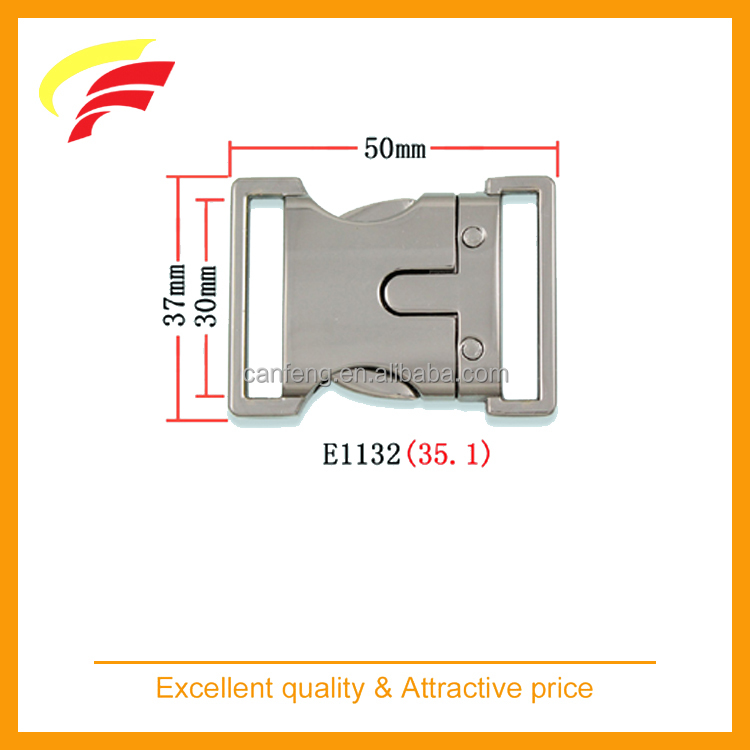 30mm zinc alloy metal side release belt buckle