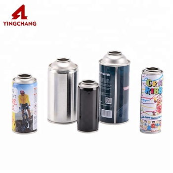 Empty refillable compressed air aerosol spray can / aerosol chemical insecticide can