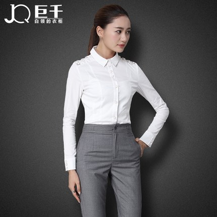 2016 new arrival office uniform woman suit 2 piece shirt and pant womens formal business pants suits
