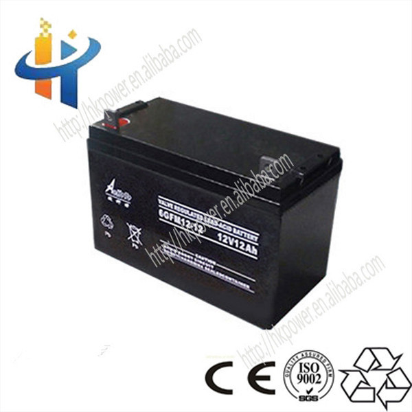 12v12AH rechargeable storage solar battery for solar system