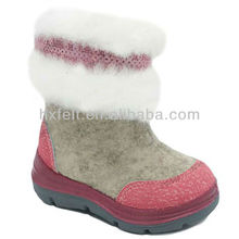 fashion design wool felt boots for gils