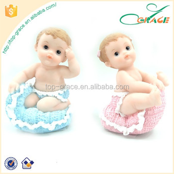 Custom Resin Boy Girl Baptism Gifts Polyresin Figurines Baby Souvenirs Decorations