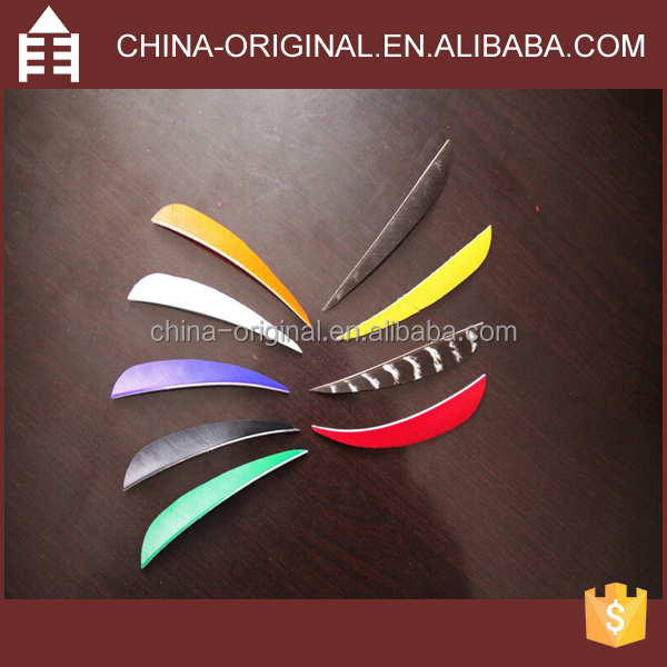 4 Inches Bamboo Feather Arrow Vanes Fletching Mixed Various Colors