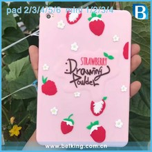 Strawberry Silicone Back Cover Case for iPad Mini 1/2/3/4 , for iPad 4 Silicone Case Lemon