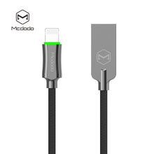Mcdodo Smart LED 4FT/6FT Auto Disconnect nylon Braided Sync Charge USB Data Cable/USB cord / USB charger For iPhone