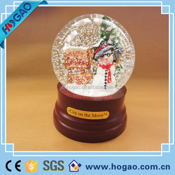 resin christmas snowman snow globe, water globe,snow ball