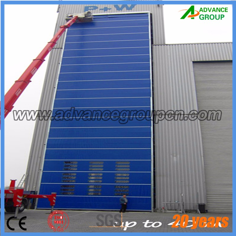 Air shower fabric high speed roller shutter door / pvc roll up doors/automatic fast door