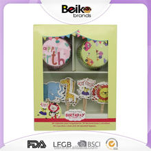 Latest product super quality easy carry cupcake paper topper set