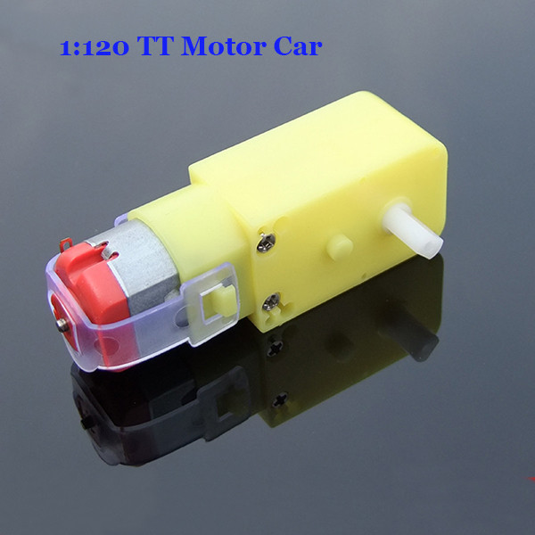 1:120 TT Double Shaft DC 6V Gear Motor For Robot Smart Car