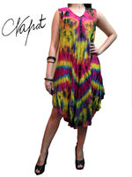 Bohemian clothing,Hippy ,Hip Hop , Reggae style Tiedye Colorful Dress