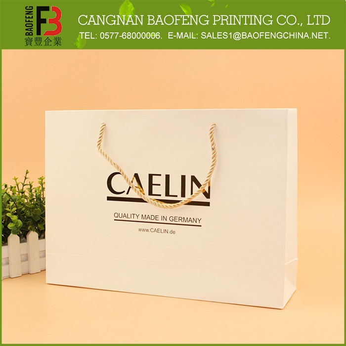 Promotional eco-friendly custom logo printed free sample paper bag