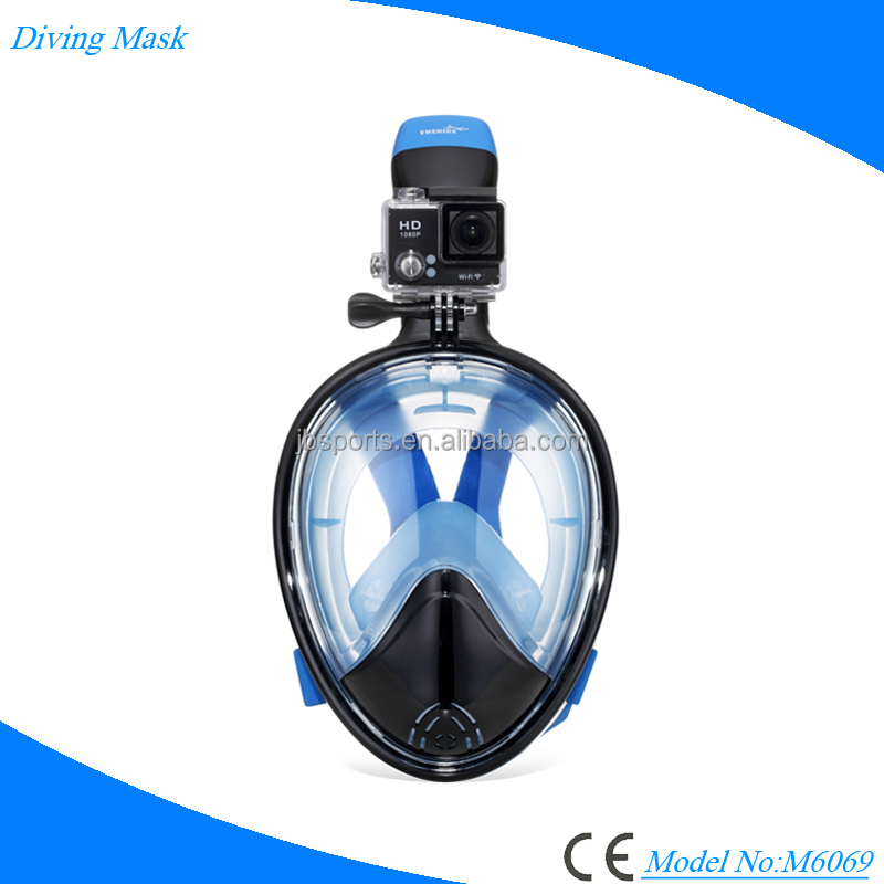 Full Face 180 Seaview GoPro Compatible Snorkel Mask- Panoramic Adult Kids Anti-Fog Diving Mask