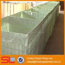 Galvanized welded rock basket wire mesh, military welded hesco barrier, mesh wall bastion
