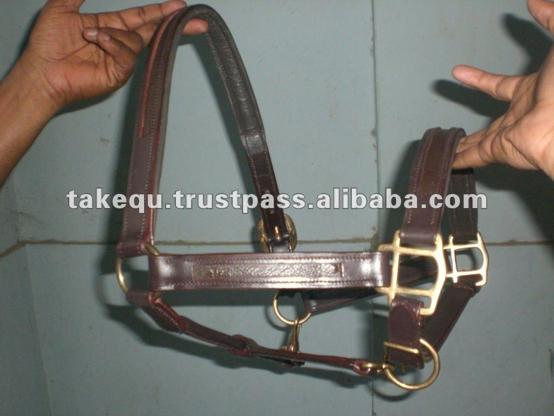 U- Shape Empty channel leather Halter