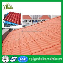 Highly waterproof and insulation pvc resin spanish red shingles for villa,warehouse