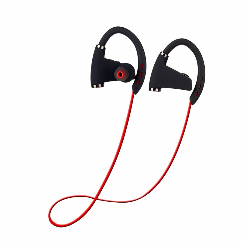IPX7 waterproof 12 hours life time wireless headphone bluetooth stwreo headset RN8 with ruber ear hook
