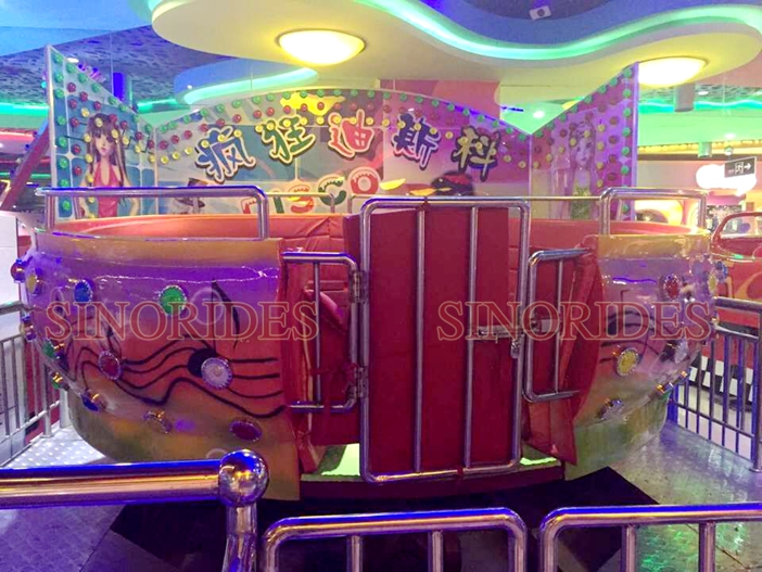 Manufacturer supply children indoor rides games machines disco tagada
