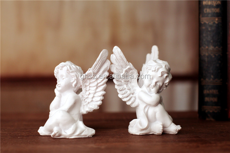 Guo hao hot sale wholesale resin angel ornaments collectible polyresin figurine