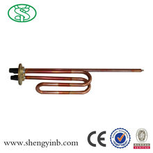 one-year guarantee red copper tubular pre-heated solar water heater with copper coil