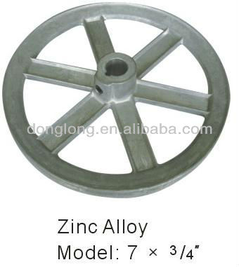 zinc alloy strap wheel / v-belt pulley