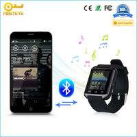 Factory Customized Made MTK6261 support Bluetooth Facebook,Whatsapp,SIM card android Smart Watch phone GT08