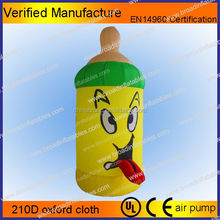 Hot selling inflatable beer bottle model/inflatable promotional item