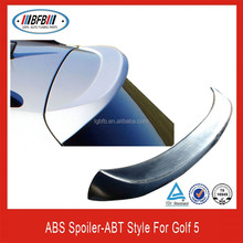 ABT style rear spoiler made of ABS material rear trunk spoiler for vw golf 5