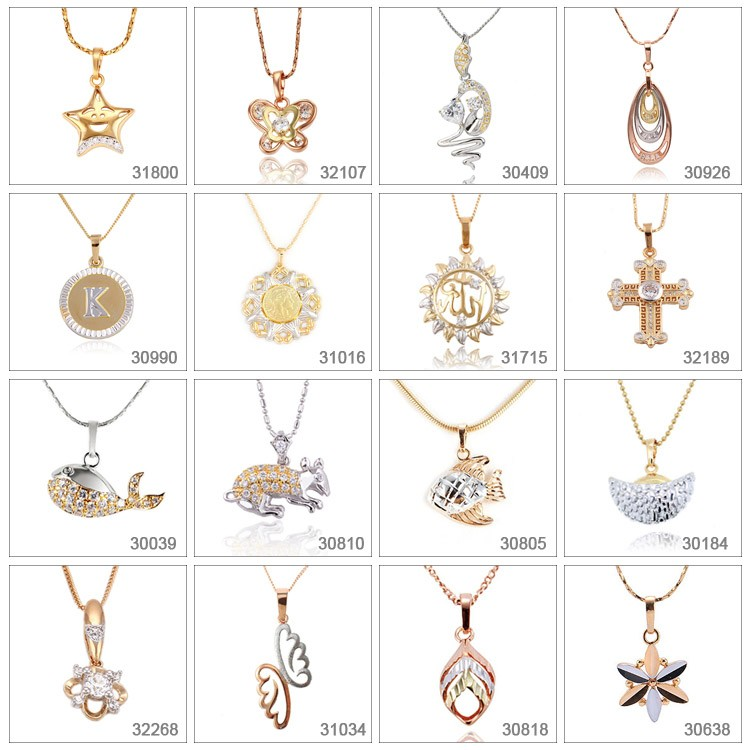 32645 Xuping fashion wholesale gold plated jewelry flower pendant designs inlay handmade pearl jewelry