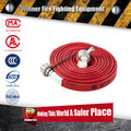 Red Color High quality Fire hose with BS coupling