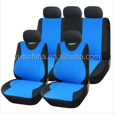 Blue car leather interior